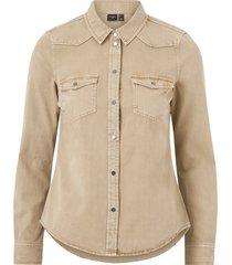 jeansskjorta vmmaria ls dnm slim shirt clr color