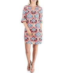 women's elbow sleeve tunic mini dress
