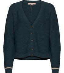 rasanna v-neck cardigan knit gebreide trui cardigan blauw soft rebels