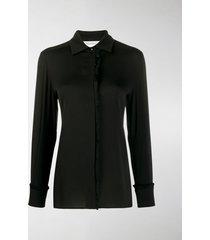 max mara fringe detail silk shirt