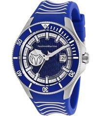 reloj technomarine tm-118012 azul silicona