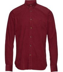 garth button down shirt skjorta casual röd morris