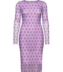 jolanda knälång klänning lila baum und pferdgarten