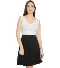 vestido anna field corto negro - calce ajustado