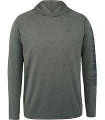 wolverine men's sun-stop pullover hoody onyx heather, size xxl