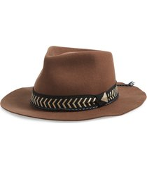 women's brixton venice felted wool fedora -