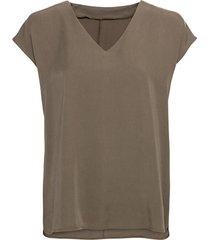 blouseshirt van tencel™ vezels met v-hals, olijfgroen 36
