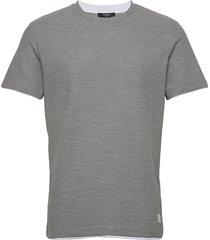 jprblataylor tee ss crew neck t-shirts short-sleeved grå jack & j s