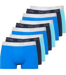 hom 9-pack boxer briefs - blauw/navy/turquoise