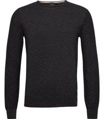 amiox stickad tröja m. rund krage svart boss