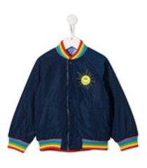 stella mccartney kids jaqueta bomber com bordado sunshine - azul
