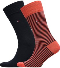 th men small stripe sock 2p underwear socks regular socks orange tommy hilfiger