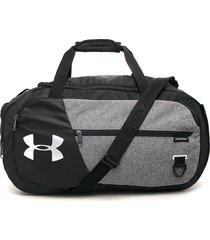maletín negro-gris under armour 4.0 duffle sm-gry graphite medium