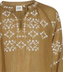camicetta halys ricamata in garza di cotone