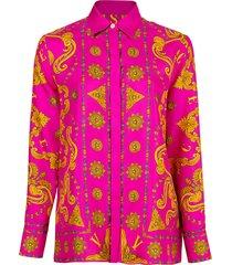 baroque and circle print blouse