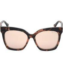roberto cavalli women's 57mm square sunglasses - havana