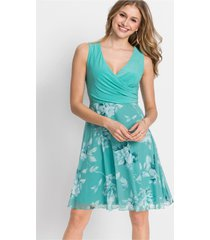 jurk met gedessineerd rokdeel van mesh