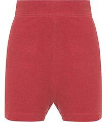 short feminino linho - vermelho