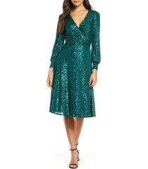 women's tahari sequin long sleeve knit dress