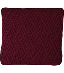capa almofada tricot 40x40cm / 45x45cm c/zãper sofa trico cod 1025 marsala - vinho - feminino - dafiti