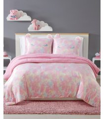 my world rainbow sweetie full/queen 3 piece comforter set bedding