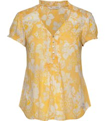 perfect print blouse blouses short-sleeved geel odd molly