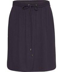 r8155, elastic waist skirt kort kjol blå saint tropez