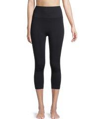 yummie women's seamless capri leggings - black - size m/l