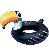 bóia inflável gigante anel de tucano - bel lazer