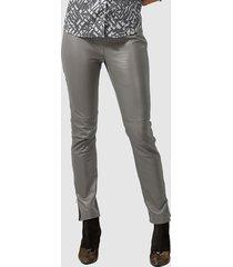 leren broek alba moda grijs
