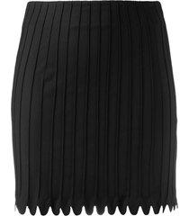 coperni ribbed-design mini skirt - black