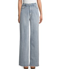 weworewhat women's high-rise wide leg jeans - light vintage - size 26 (2-4)