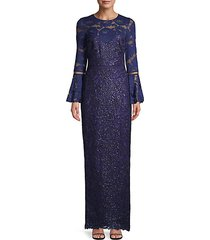 belle embellished lace gown