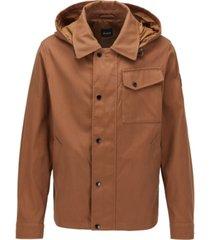 boss men's capax dark brown jacket