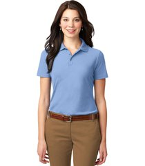 port authority l510 ladies stain-resistant polo shirt - light blue