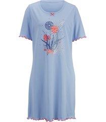 pyjamas och nattlinne blue moon ljusblå/korallröd/benvit