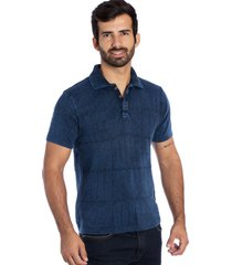 camisa polo frames le tisserand azul stone