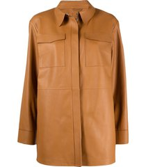 desa 1972 spread-collar long-sleeve jacket - brown