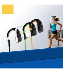 audífonos bluetooth estéreo hd manos libres inalámbricos, ce auricular audifonos bluetooth manos libres  en el oído inalámbrico deportes corriendo estéreo auriculares manos libres (amarillo)