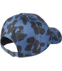 gorra azul nike floral mujer azul