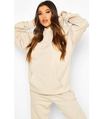 mix & match oversized hoodie, zand