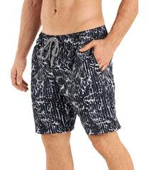 pantaloneta verano silueta larga hawai para hombre-negro