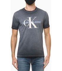 camiseta mc ckj masc calvin ideals - azul marinho - pp