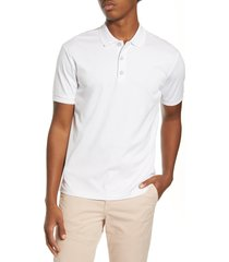 rag & bone interlock slim fit heathered polo shirt, size xx-large in white at nordstrom