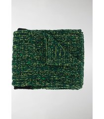 plan c contrasting-stripe knitted scarf