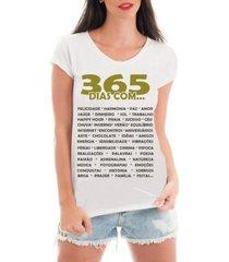 t-shirt criativa urbana camiseta com renda feliz ano novo réveillon 365 dias - masculino