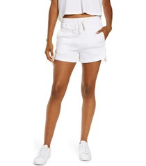 blanc noir lace-up shorts, size medium in white at nordstrom