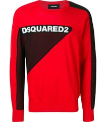 dsquared2 logo mesh sweater