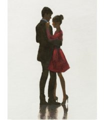 "marco fabiano the embrace ii red dress canvas art - 15"" x 20"""