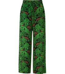 eva floresta silk trousers - black